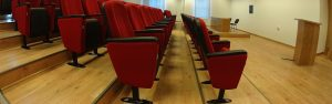 Scaune cinema Antares pentreu sali de cinematograf personalizate cu stofa ingifuga